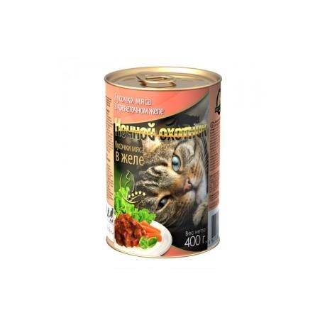 Ночной охотник Консервы для кошек Кролик с Сердцем Кусочки в Соусе