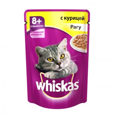 Whiskas Вискас Пауч для кошек Сеньор Рагу Курица