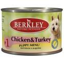 Berkley Puppy №1 Chicken and Turkey - Беркли консервы для щенков цыпленок с индейкой