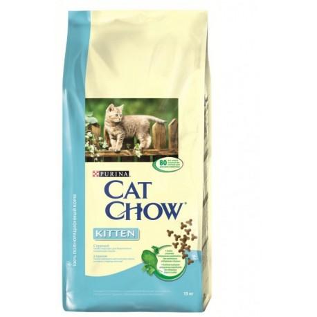 Cat Chow Кет Чау сухой корм для котят с курицей
