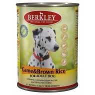 Berkley Game & Brown Rice Adult Dog  Беркли консервы для собак оленина с коричневым рисом