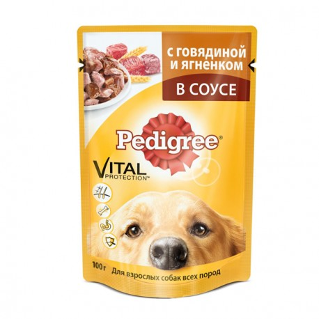 Pedigree - Педигри пауч для собак Говядина/ягненок