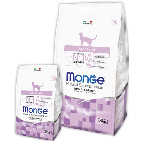 Monge Cat Sterilised Монж сухой корм для кошек Стерилизованных кошек