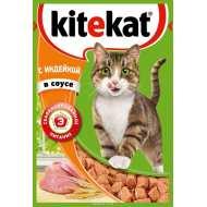 KiteKat Китикет консервы д/кошек индейка (пауч)