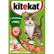 KiteKat Китикет консервы д/кошек кролик (пауч) в желе