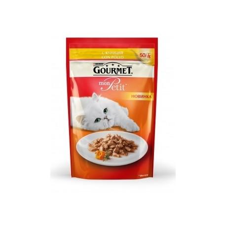 Gourmet Mon Petit пауч-консервированный корм для взрослых кошек с Курицей