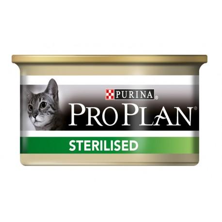 Pro Plan Sterilised консервы для кастрированных и стерилизованных котов/кошек, паштет Лосось/Тунец