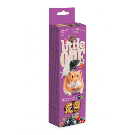 Little One Палочки для хомяков, мышей и песчанок с ягодами 60гр*2шт