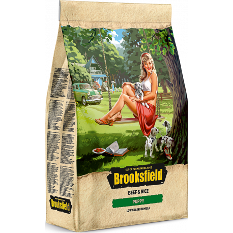 BROOKSFIELD корм для щенков всех пород от 1 до 12 месяцев Говядина/рис