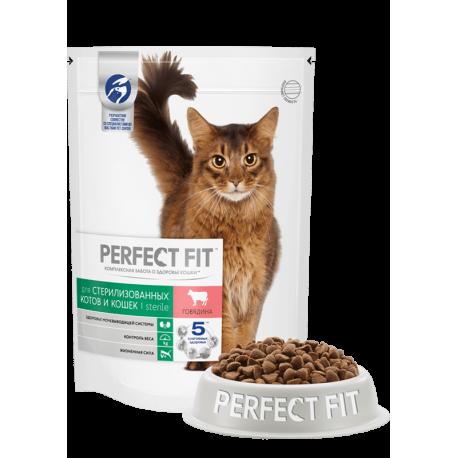 Perfect Fit Sterile сухой корм для кастрированных котов и стерилизованных кошек, Курица