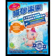 ХЭППИ ПЕТ (HAPPY PET) Наполнитель ультракомкующийся на целлюлозной основе с голубым индикатором 7л (Япония)