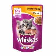 Whiskas - Вискас пауч  для котят телятина в желе