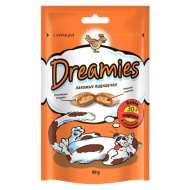 Dreamies лакомые подушечки для кошек с Курицей