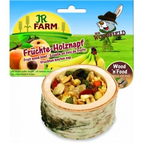 JR Farm 06791 Лакомство для грызунов Чаша деревянная с фруктами