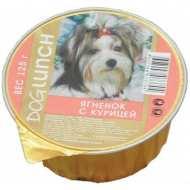 Dog Lunch - дог Ланч консервы для собак крем-суфле с Ягненок с курицей ламистер