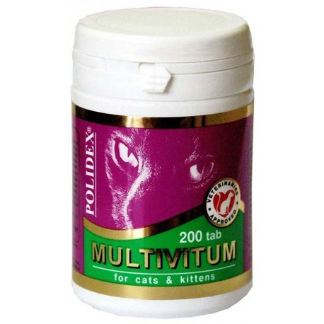 Polidex Multivitum plus - Полидекс Мультивитум плюс для кошек